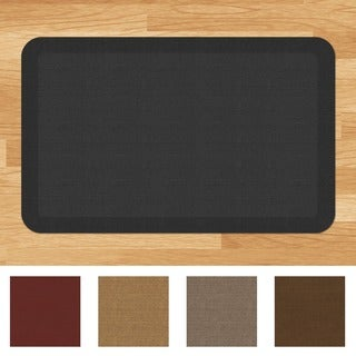 Designer Comfort Grasscloth Anti Fatigue 20 X 32 Inch Kitchen Mat   2u0027