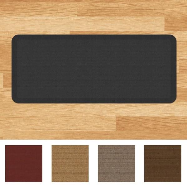 Designer Comfort Grasscloth Anti-fatigue 20 x 48-inch Kitchen Mat