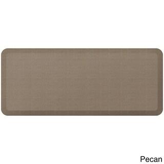 GelPro Designer Comfort Grasscloth Anti-fatigue 20-inch x 48-inch Kitchen Mat (Option: Brown/Tan)