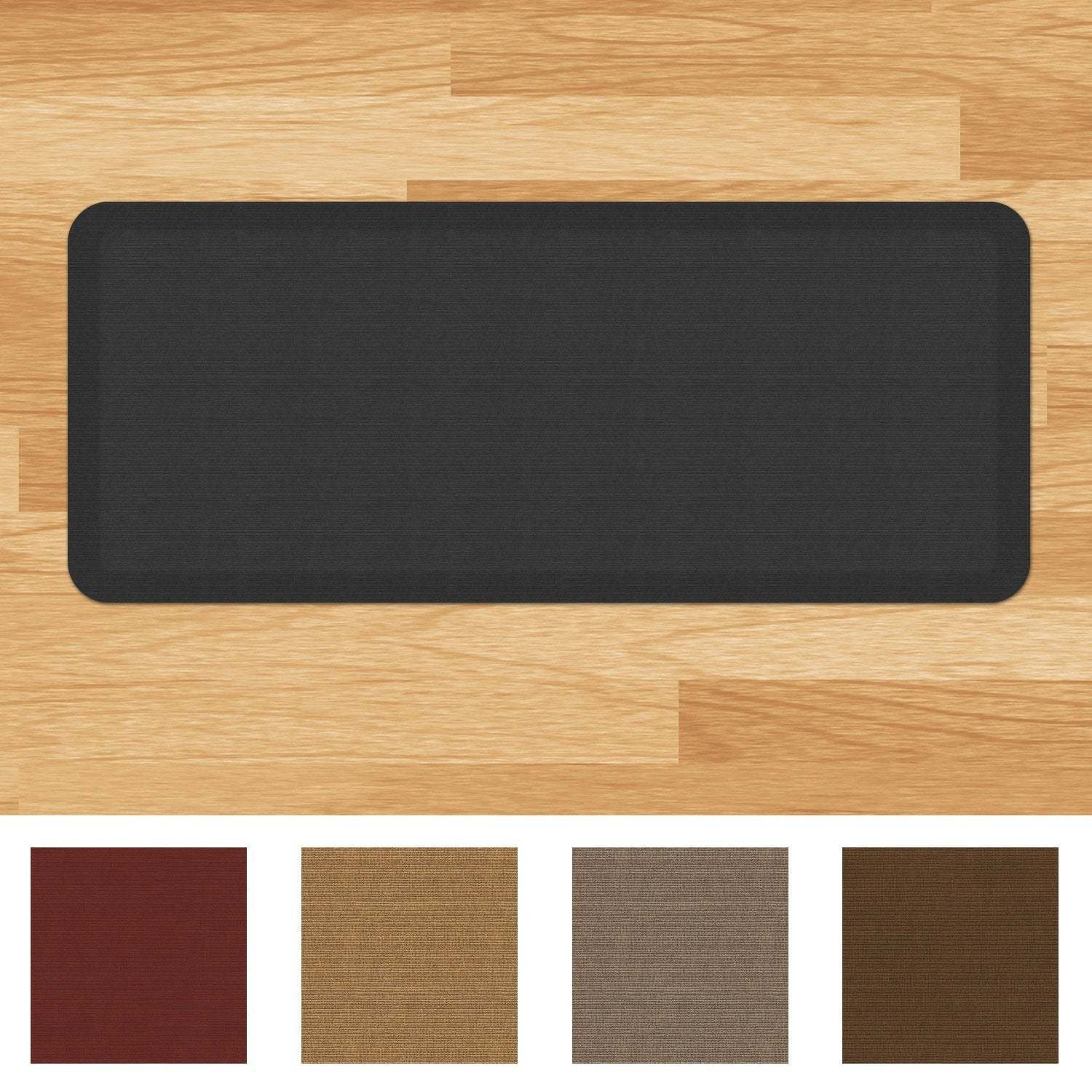 shop designer comfort grasscloth anti fatigue kitchen mat free rh overstock com