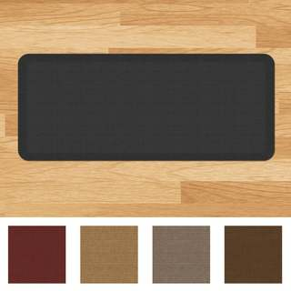 Designer Comfort Grasscloth Anti-fatigue Kitchen Mat
