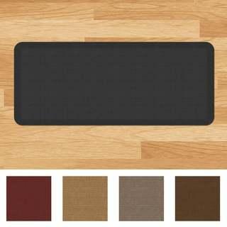 Designer Comfort Grasscloth Anti Fatigue 20 X 48 Inch Kitchen Mat