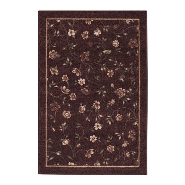 Phoebe Burgundy Accent Rug - 30 x 46