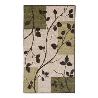Dogwood Leaves Sage Accent Rug (2'6 x 3'10)