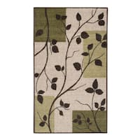 Dogwood Leaves Sage Accent Rug - 2'6 x 3'10