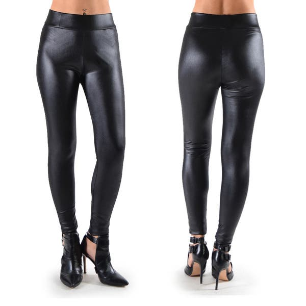 Dinamit Women's Faux Leather Leggings - Overstock - 14681587