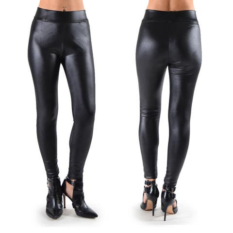 Dinamit Women's Faux Leather Leggings