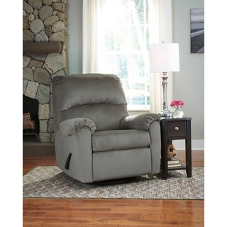 Contemporary Fabric Swivel Glider Recliner