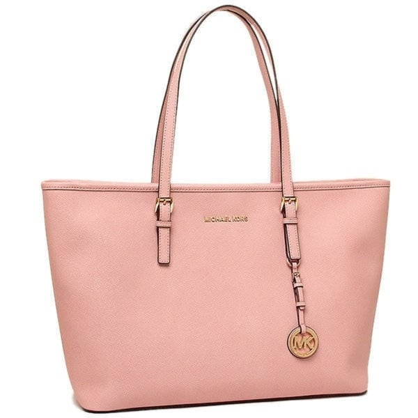 0d32a373c53b Michael Kors Pale Pink Jet Set Travel Medium Multi Function Tote Bag