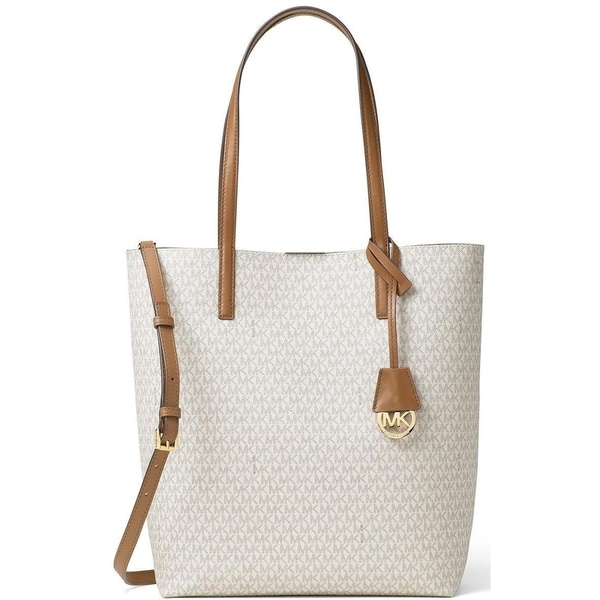 3370266629 Shop Michael Kors Hayley Large Vanilla Signature North South Tote Bag - Off  White - Free Shipping Today - Overstock - 14681603