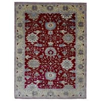 FineRugCollection Handmade Fine Mahal Red Oriental Wool Rug