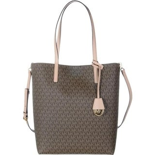 Michael Kors Hayley Large Mocha/ Bisque North/South Tote Bag - Brown