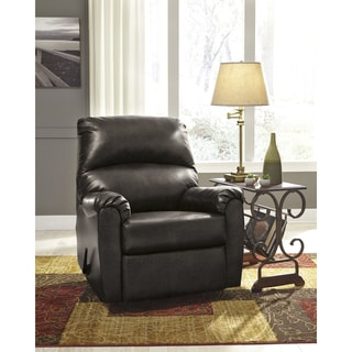 Faux Leather Contemporary Rocker Recliner
