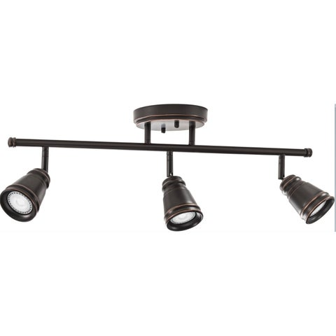 Lithonia Lighting - LED 3 Head Peppermill Fixed Track Kit, 21W, Oil rubbed Bronze