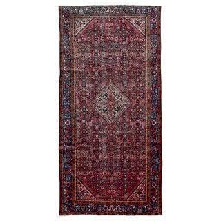 FineRugCollection Handmade Semi-Antique Persian Hamadan Red Oriental Rug (5'1 x 10'8)