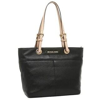 Michael Kors Bedford Black Top Zip Pocket Handbag Tote