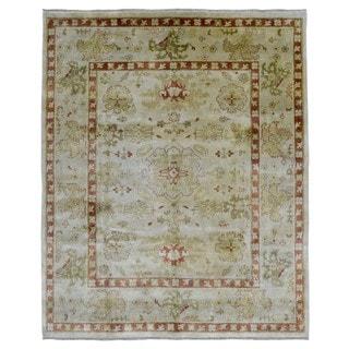 FineRugCollection Handmade Oushak Beige Oriental Wool Rug (7'10 x 9')