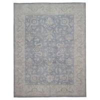 FineRugCollection Handmade Fine Peshawar Blue Wool Oriental Rug
