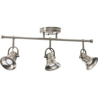 Lithonia Lighting Brushed Nickel LED 3-Head Flare Skirt Fixed Track Light Kit