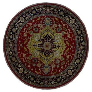 FineRugCollection Handmade Serapi Red Wool Round Rug - 8' x 8'