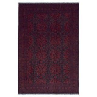 FineRugCollection Handmade Khal Mohammadi Red Wool Oriental Rug
