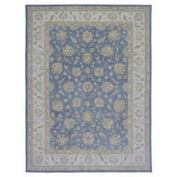 FineRugCollection Handmade Fine Peshawar Blue Wool Oriental Rug (9' x 11'10)