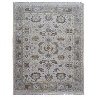 FineRugCollection Handmade Oushak Grey Wool Oriental Rug