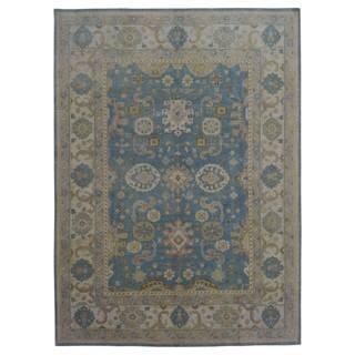 FineRugCollection Handmade Oushak Blue Wool Oriental Rug