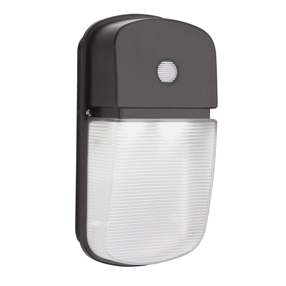 Lithonia Outdoor Security Lighting: Lithonia Lighting Bronze Dusk To Dawn Integrated Outdoor