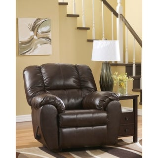 Durablend Contemporary Faux Leather Rocker Recliner