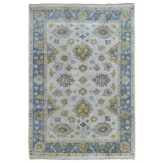 FineRugCollection Handmade Oushak Beige Wool Oriental Rug