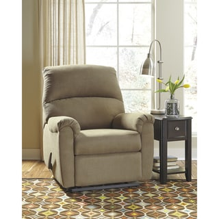Fabric Wall Hugger Contemporary Rocking Recliner