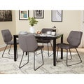 Simple Living 5-Piece Lofton Black and Grey Dining Set