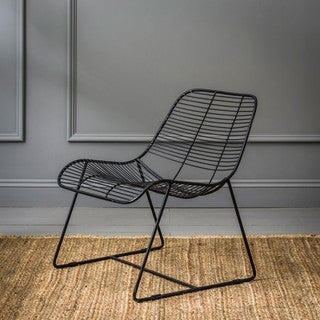 New York Contemporary Metal Linear Accent Chair