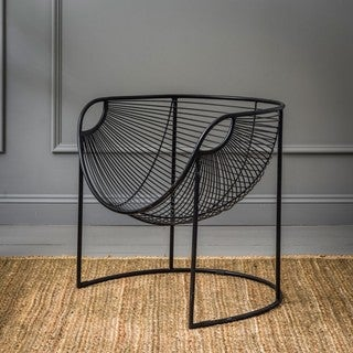 New York Contemporary Glam Metal Accent Chair