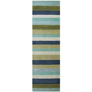 Hand-loomed Platoon Wool Stripe Runner Area Rug (2'6 x 8')