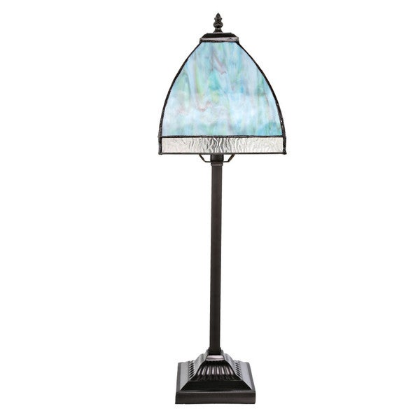 Blue 25.25-inch-high Stained Glass Bent Panel Ocean Table Lamp ...