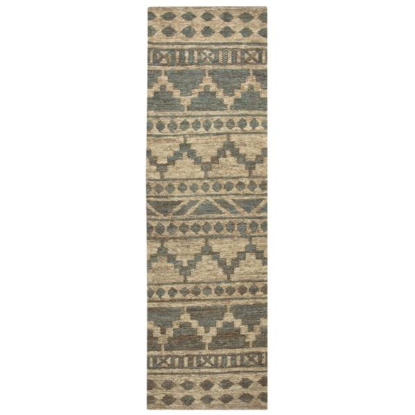 Hand-woven Whittier Sage Jute Southwest/ Tribal Runner Area Rug (2'6 x 8')