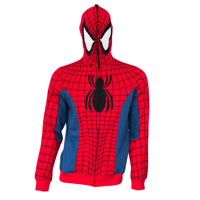Spiderman Red Full-zip Costume Hoodie (X-Large), Men's, S...