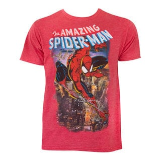 Spiderman Comic Cover Red Cotton T-shirt