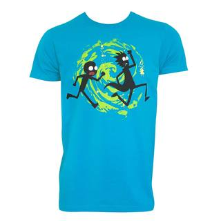 Men's 'Rick and Morty' Swirl Blue Cotton T-shirt