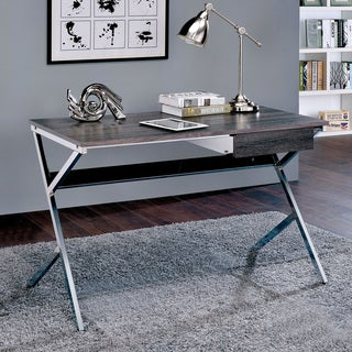 Furniture of America Cele Contemporary Metal Chrome 1-drawer Writing Desk