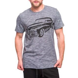 Men's Blue Cotton Screenprinted T-shirt