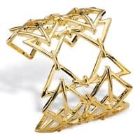 """Gold Tone Cuff Bracelet (58mm), 6"""""""