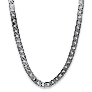 Men's Black Ruthenium-Plated Curb-Link Chain Necklace (12mm), 24""
