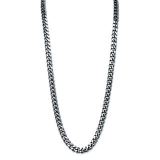 Black-plated Men's 10.5mm Curb Link Chain Necklace