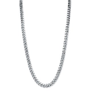 Silvertone Men's 10.5mm Curb Link Chain Necklace