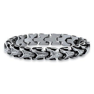 Stainless Steel Men's Serpent Link Bracelet