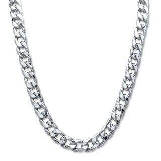 Silvertone Men's 12mm Curb Link Necklace