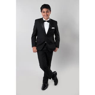 Tazio Boys' Black 4-piece Suit|https://ak1.ostkcdn.com/images/products/14682346/P21216004.jpg?impolicy=medium